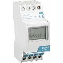 Digitalt kopplingsur Data Log för DIN-skena Suevia Data Log I 230 V/AC 16 A/250 V