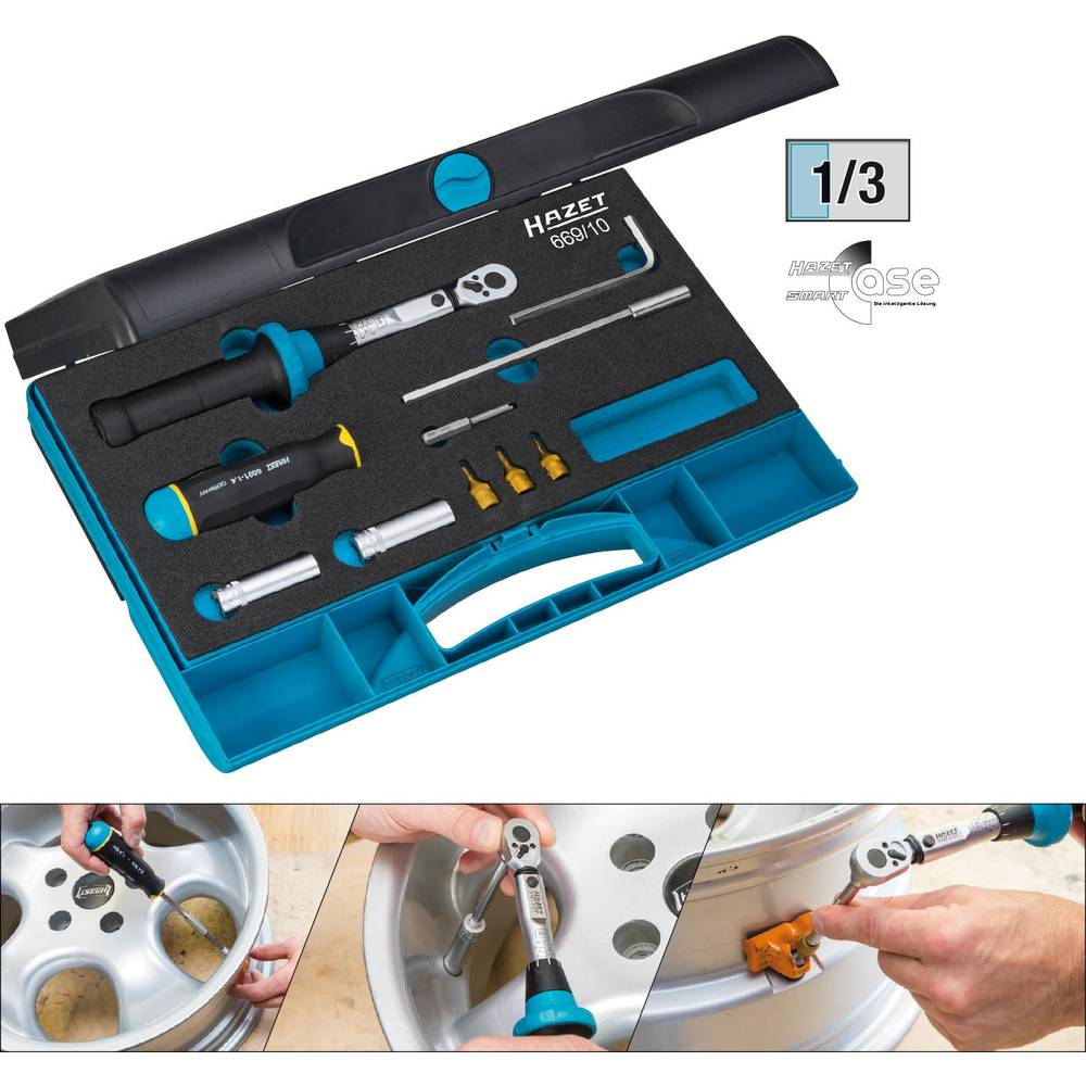 Komplet alata za sustav kontrole pritiska u gumama 669/10 Hazet