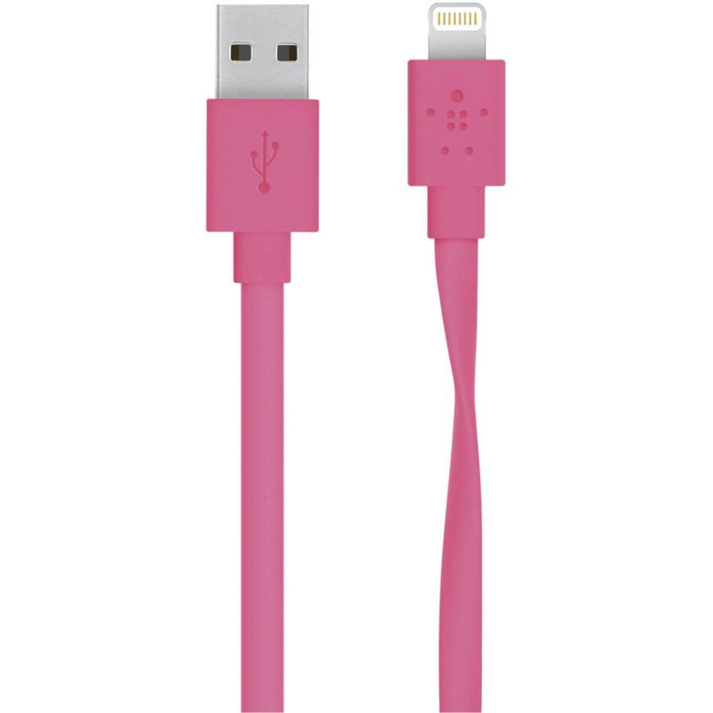 iPad / iPhone / iPod podatkovni kabel / napajalni kabel [1x Apple Dock vtič Lightning - 1x USB 2.0 vtič] 1.20m roza Belkin