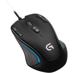 USB miš za igranje optički Logitech G300s ugrađena profilna memorija crna