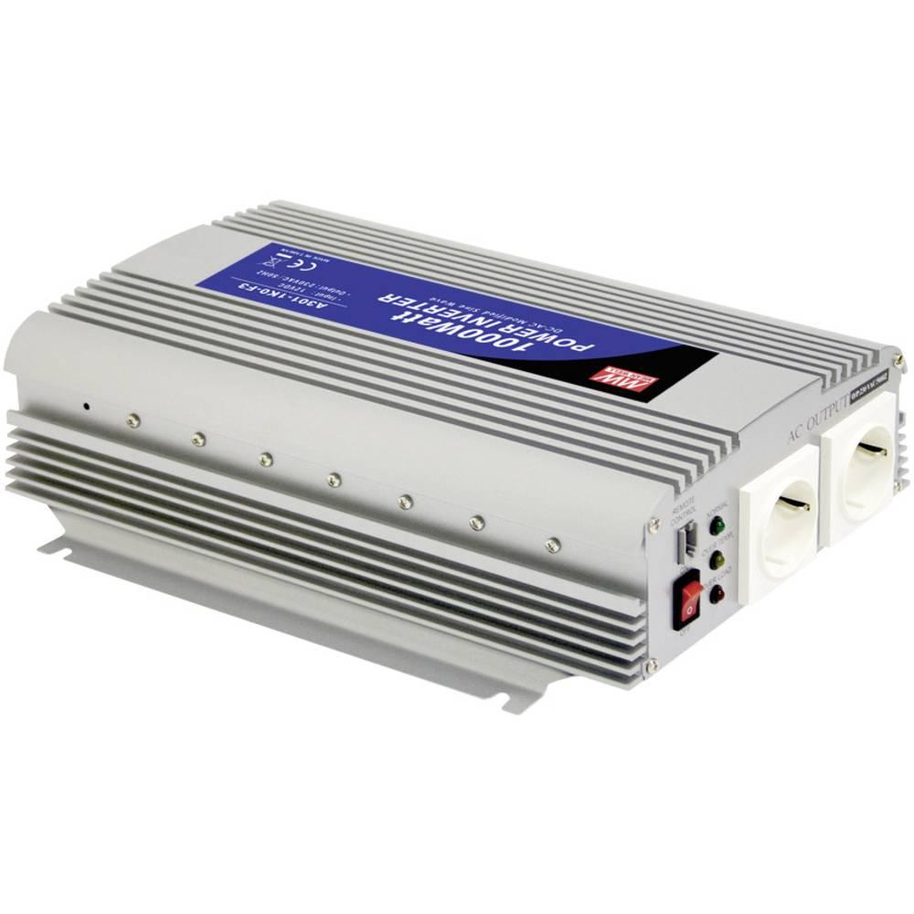 Razsmernik MeanWell No A301-1K0-F3 1000 W 12 V/DC 10-15 V/DC vijačne sponke, vtičnica z zaščitnimi kontakti