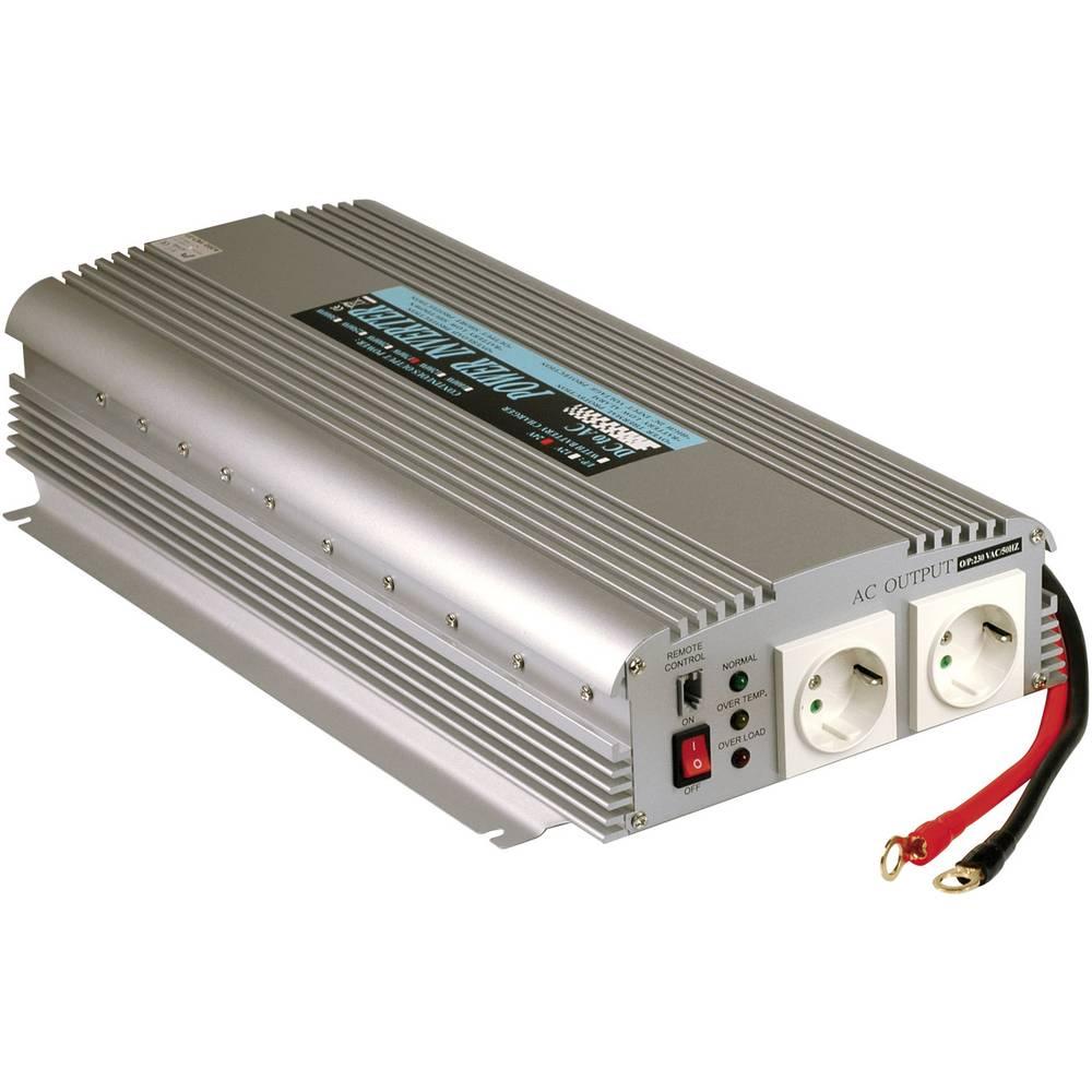 Razsmernik MeanWell No A301-1K7-F3 1500 W 12 V/DC 10 - 15 V/DC vijačne sponke, vtičnica z zaščitnimi kontakti