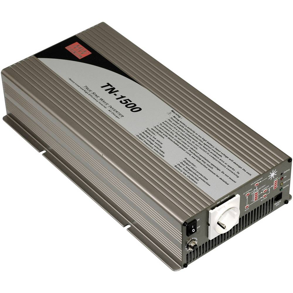 Inverter Mean Well TN-1500-224B 1500 W 24 V/DC Skrueklemmer Jordstik