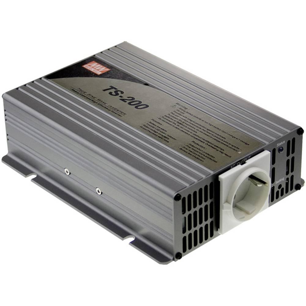 Razsmernik MeanWell No TS-200-224B 200 W 24 V/DC 21 - 30 V/DC vijačne sponke, vtičnica z zaščitnimi kontakti