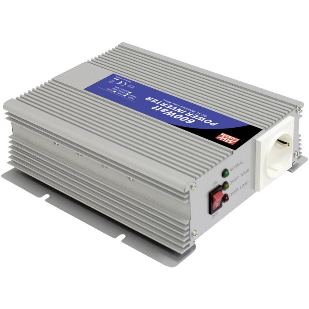 Izmjenjivač A301-600-F3 Mean Well 600 W 12 V/DC 10 - 15 V/DC navojne stezaljke šuko utičnica