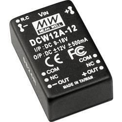 DC/DC pretvornik Mean Well DCW12B-12 +/-12 V/DC 500 mA