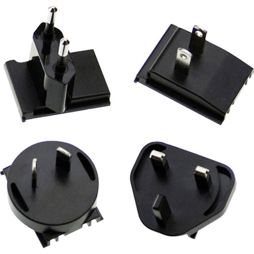 Vhodni vtič MeanWell AC PLUG-MIX za serijo GE (komplet 4 kosov)