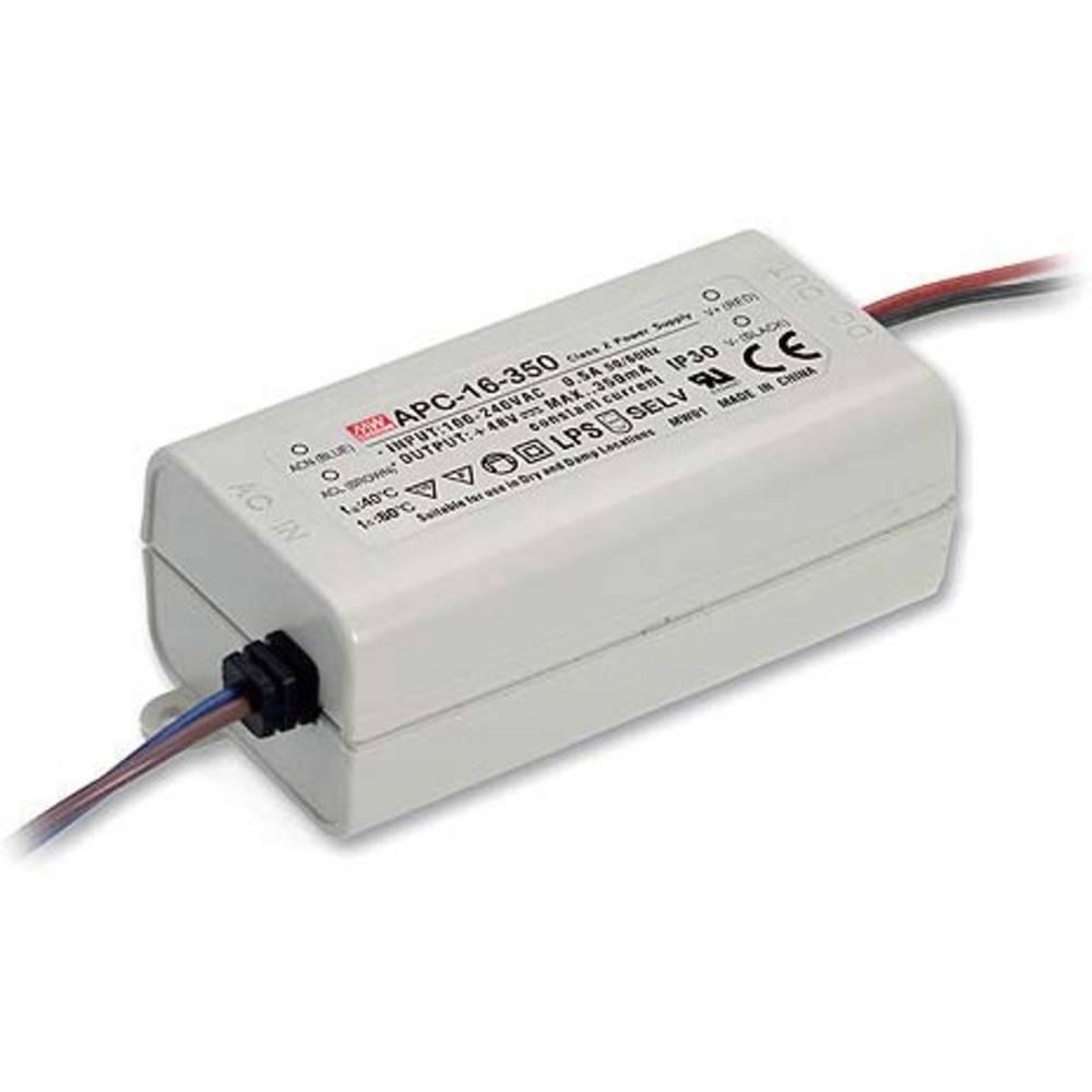 LED gonilnik, konstantni tok Mean Well APC-16-350 16 W (maks.) 350 mA 12 - 48 V/DC brez zatemnjevanja