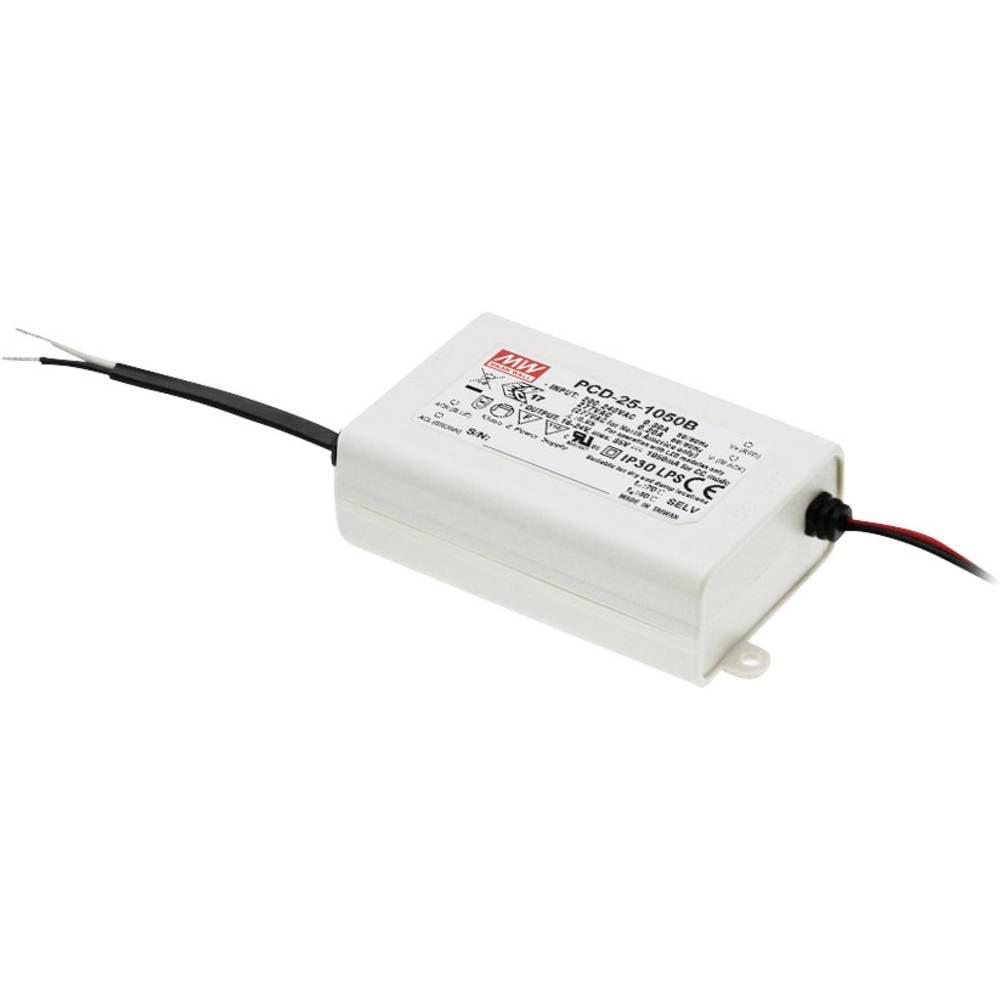 LED gonilnik, konstantni tok Mean Well PCD-25-1050B 25 W (maks.) 1.05 A 16 - 24 V/DC možnost zatemnjevanja