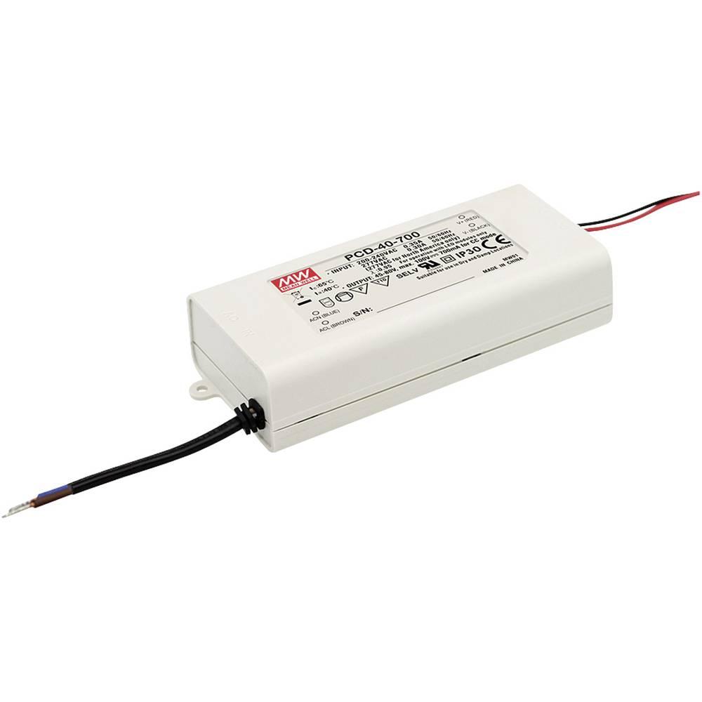 LED gonilnik, konstantni tok Mean Well PCD-40-500B 40 W (maks.) 500 mA 45 - 80 V/DC možnost zatemnjevanja