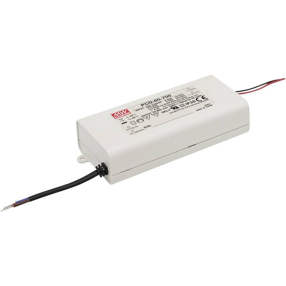 LED gonilnik, LED Trafo, konstantna napetost, konstantni tok Mean Well PCD-60-2000B 60 W (maks.) 2000 mA 18 - 30 V/DC