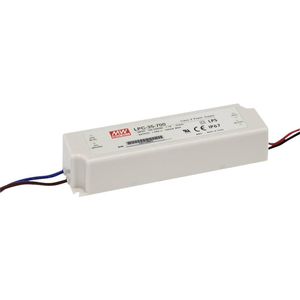 LED gonilnik, konstantni tok Mean Well LPC-35-1050 31.5 W (maks.) 1.05 A 9 - 30 V/DC zaščita pred preobremenitvijo, brez zatemnj