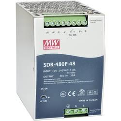 Napajalnik za namestitev na vodila (DIN letev) Mean Well SDR-480P-24 24 V/DC 20 A 480 W 1 x