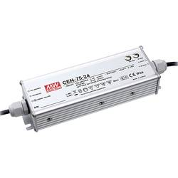 LED gonilnik, LED Trafo, konstantna napetost, konstantni tok Mean Well CEN-75-15 75 W (maks.) 0 - 5 A 11.25 - 15 V/DC PFC-vezje,