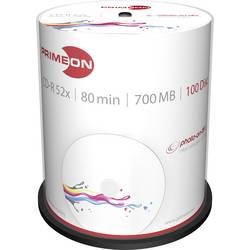 CD-R diskovi 80 Rohling 700 MB Primeon 2761106 100 kom. okrugla kutija prazni