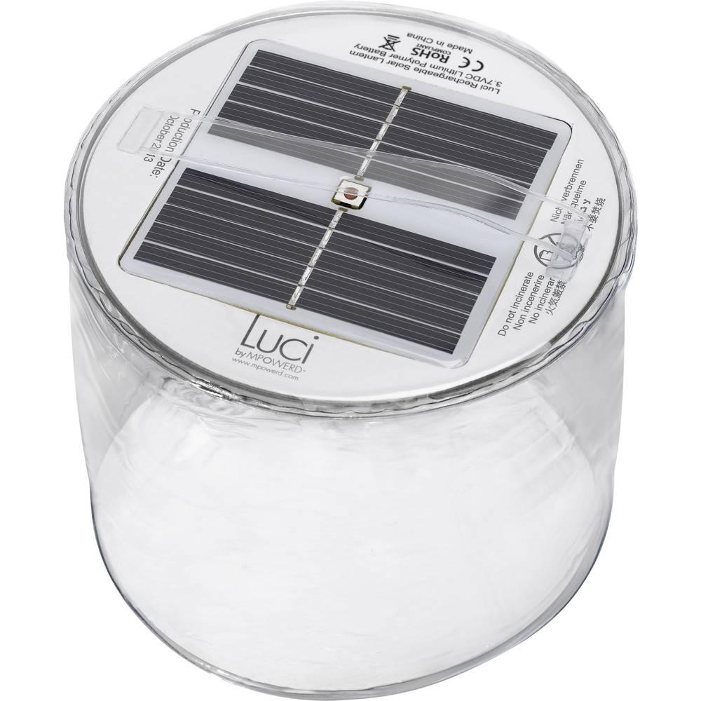 Solarna vrtna LED svetilka, topla bela, prozorna, napihljiva