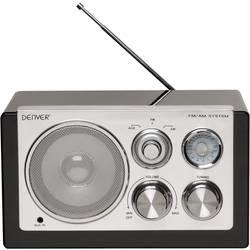 Denver TR-61 namizni radio UKW, am aux črna, srebrna