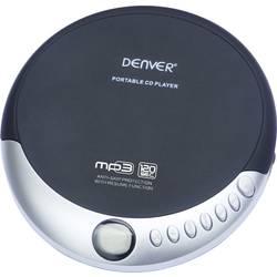 Prenosni CD-predvajalnik Denver DMP-389, črna/srebrna, predvajanje formatov: CD, CD-R, CD-RW in MP3