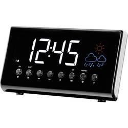 Radijska budilka s prikazom časa in vremena Denver CR-718, UKW, črna
