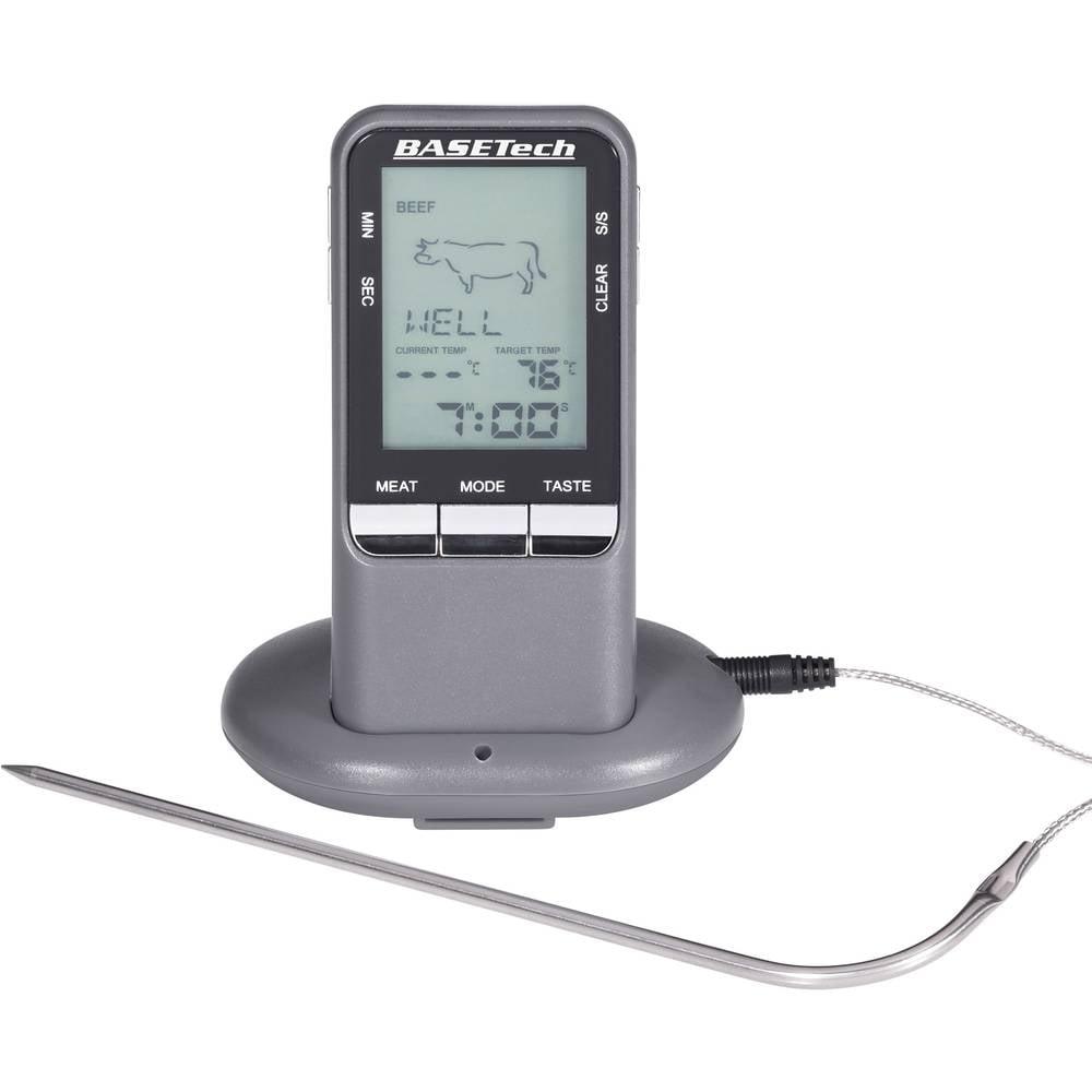 Ubodni termometar BK-BBQ Basetech mjerno područje temperature 0 do 250 °C bežični prijenos