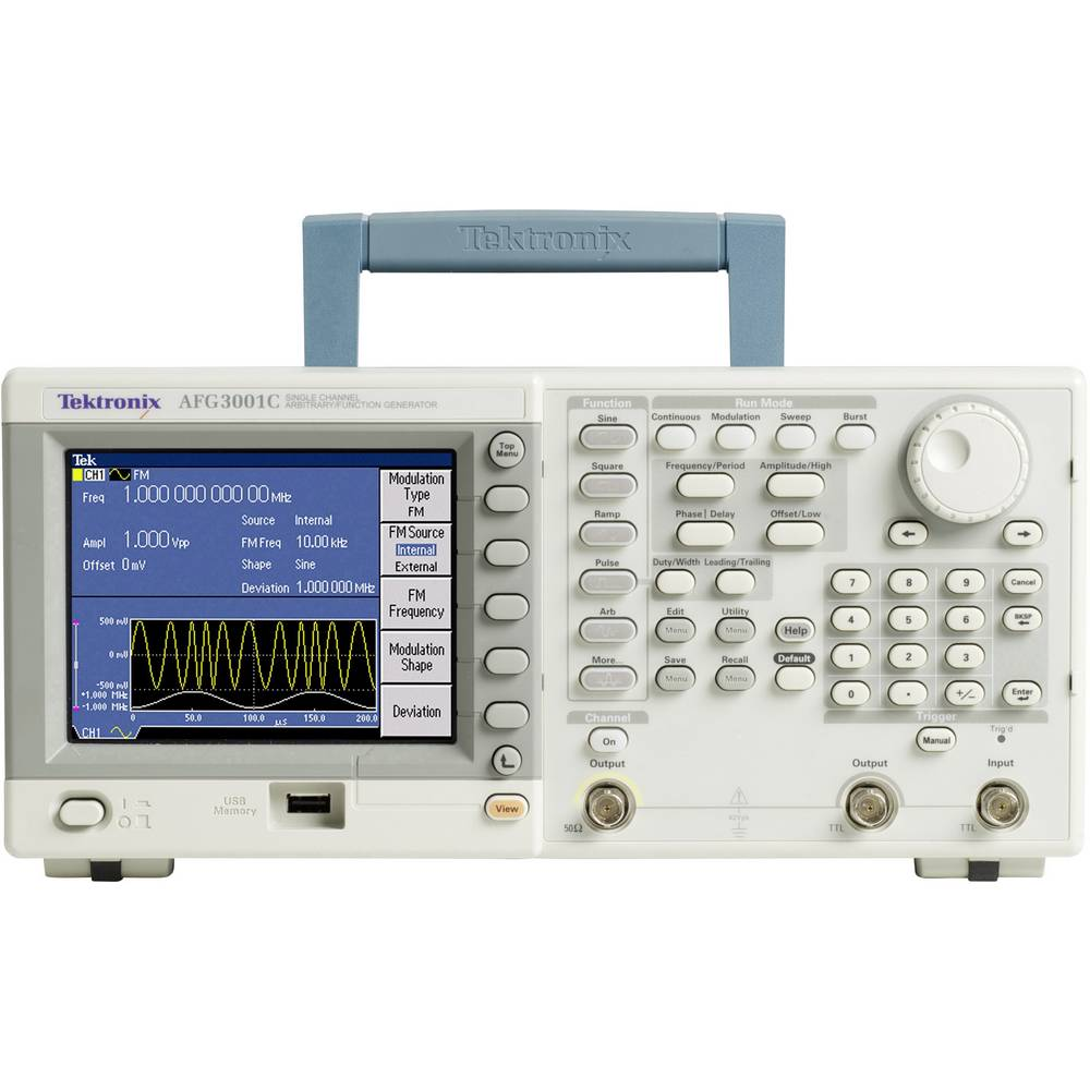 AFG3021C arbitrarni generator funkcija 25 MHz, kanali: 1 kalibriran prema: DAkkS
