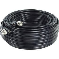 Podaljševalni kabel, 50 m, pripravljen za priklop, RG59-kabel z ločeno napetostjo za 12 V/DC RG 59/20 BNC (sf)