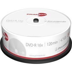 DVD-R diskovi Rohling 4.7 GB Primeon 2761203 25 kom. okrugla kutija srebrna mat površina