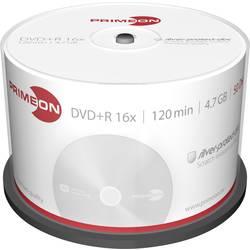 DVD+R diskovi Rohling 4.7 GB Primeon 2761224 50 kom. okrugla kutija srebrna mat površina