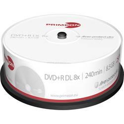 DVD+R DL diskovi Rohling 8.5 GB Primeon 2761251 25 kom. okrugla kutija srebrna mat površina
