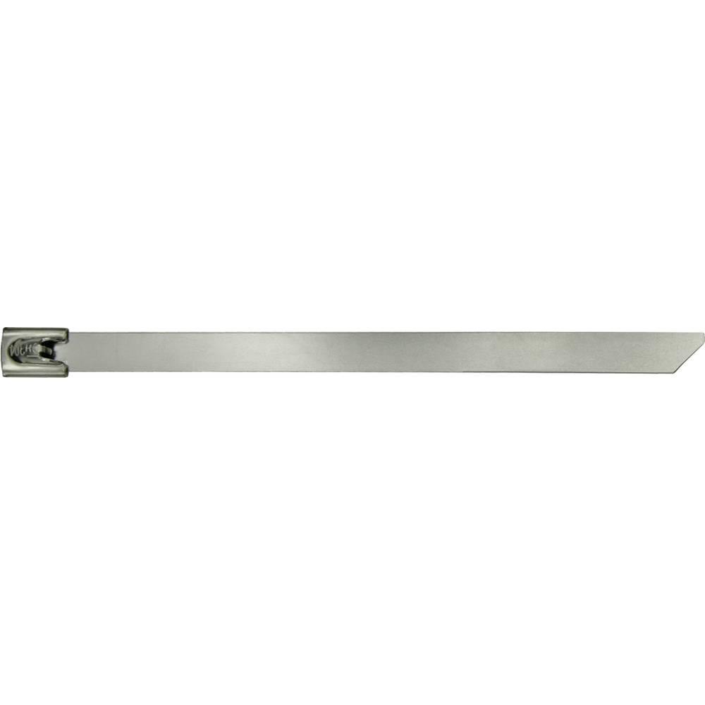 Kabelske vezice 360 mm srebrne barve temperaturno stabilna Kunzer 7EKB360 10 kos