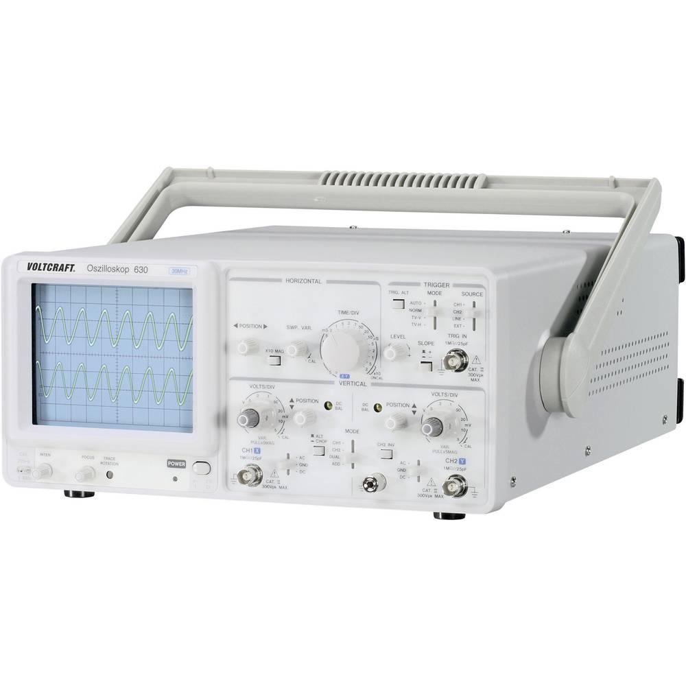 Analogni-osciloskop VOLTCRAFT VC 630-2 30 MHz 2-kanala