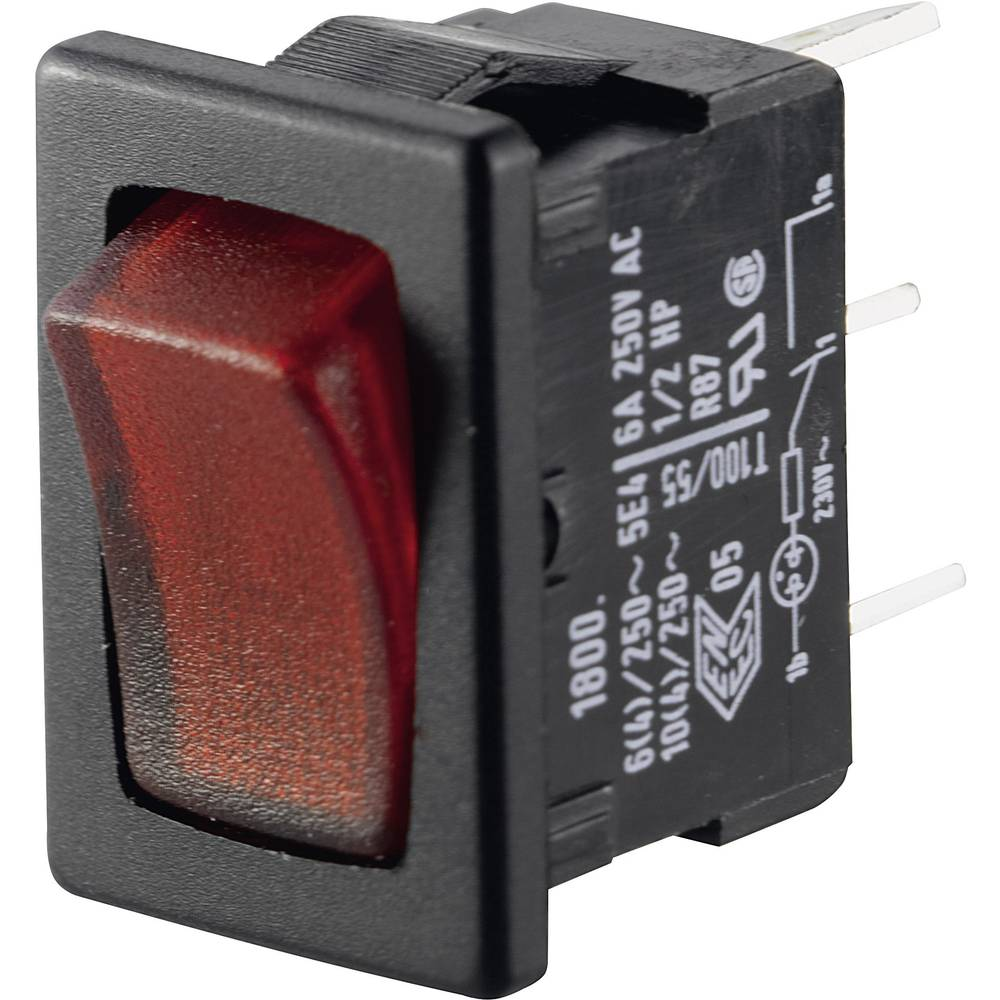 Preklopno stikalo 250 V/AC 6 A 1 x izklop/vklop Marquardt 01800.1102-02 IP40 zaskočno 1 kos