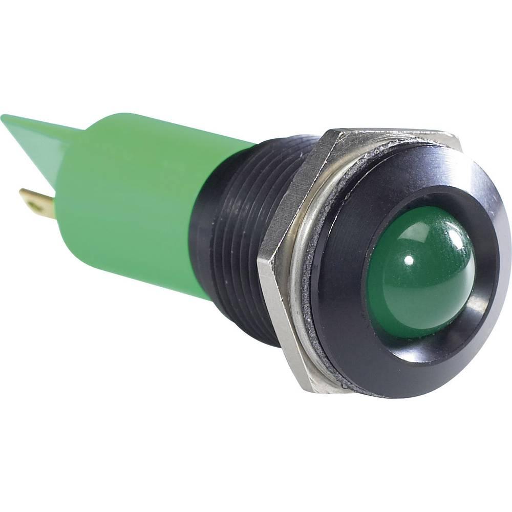 LED-Signalleuchte (value.1317401) APEM Q16P1BXXG24E 24 V/DC 20 mA Grøn