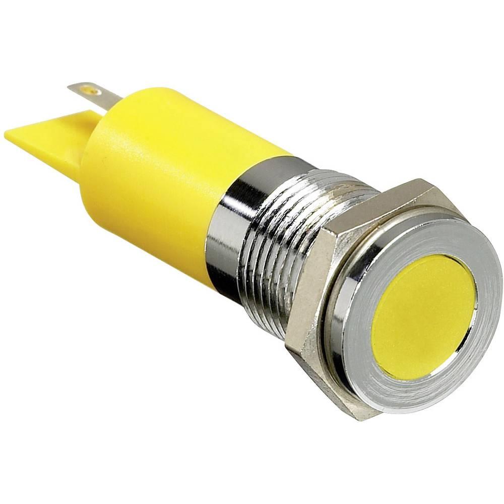 LED signalno svjetlo, crveno 12 V/DC APEM Q14F1CXXR12E