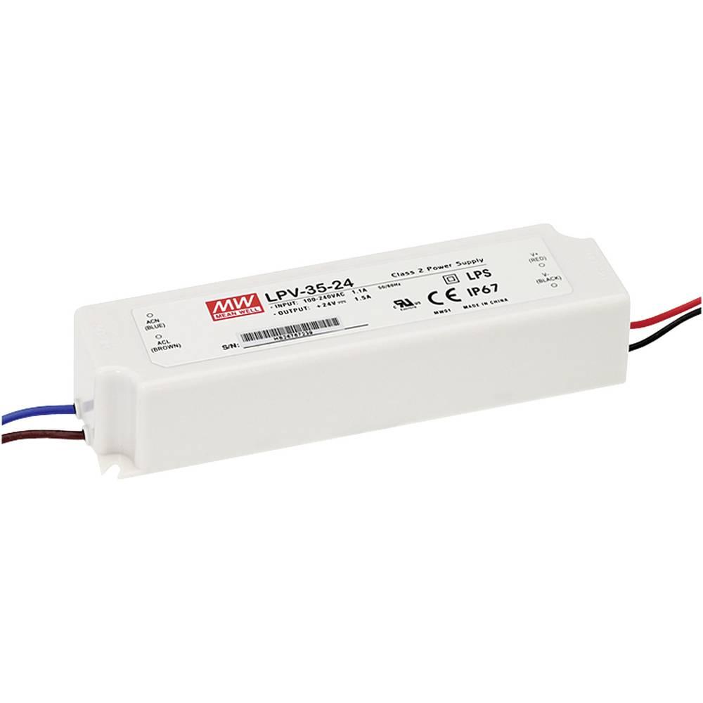 LED gonilnik, LED Trafo, konstantna napetost Mean Well LPV-35-5 25 W (maks.) 5 A 5 V/DC
