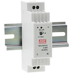 DIN-skena nätaggregat Mean Well DR-15-24 24 V/DC 0.63 A 15.2 W 1 x