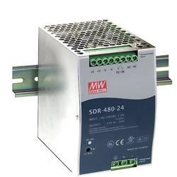 DIN-skena nätaggregat Mean Well SDR-480-24 24 V/DC 20 A 480 W 1 x