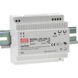Napajalnik za namestitev na vodila (DIN letev) Mean Well DR-100-15 15 V/DC 6.5 A 97 W 1 x