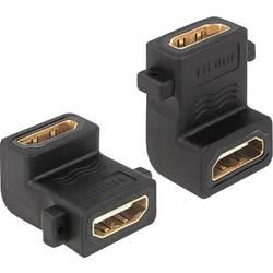 HDMI Adapter [1x HDMI-vtičnica   1x HDMI-vtičnica] črn pozlačeni kontakti Delock