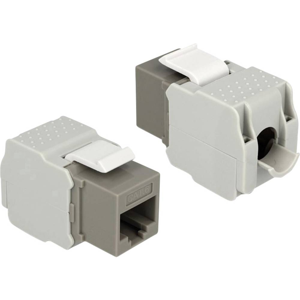 RJ45 ugradbeni model Keystone CAT 6 Delock siva