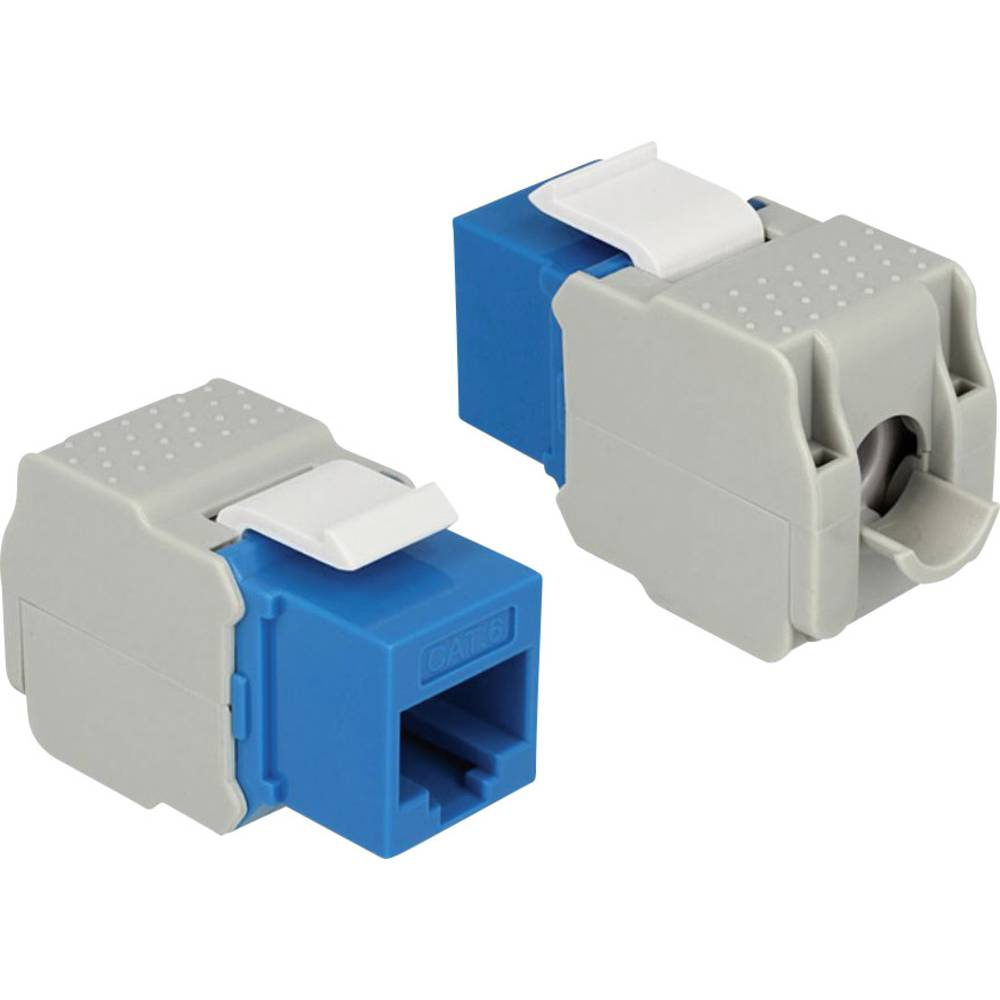 RJ45 ugradbeni model Keystone CAT 6 Delock plava