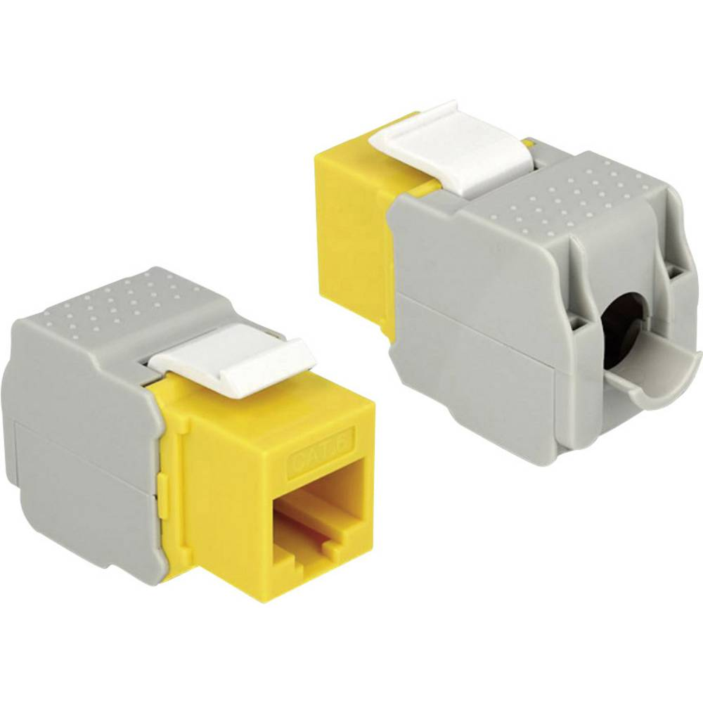 RJ45 ugradbeni model Keystone CAT 6 Delock žuta