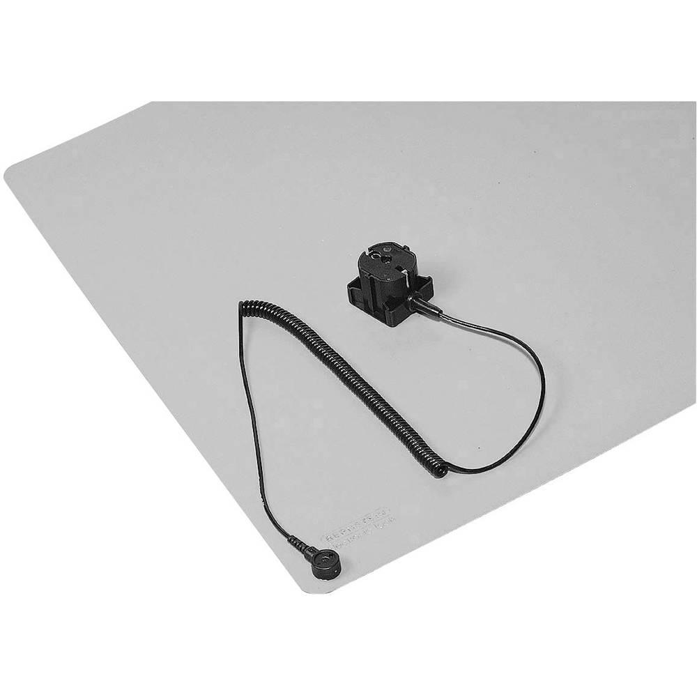 ESD namizna podloga v setu, (D x Š) 450 mm x 600 mm Bernstein 9-367 vklj. ozemljitveni vtič