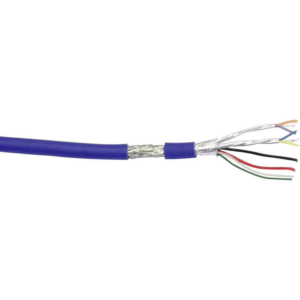 USB-Kabel 8 x 0.08 mm plave boje U3Z500 metarski