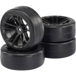 Reely 1:10 cestni model, komplet koles Slick 5-dvojno-kraka črna 4 kos