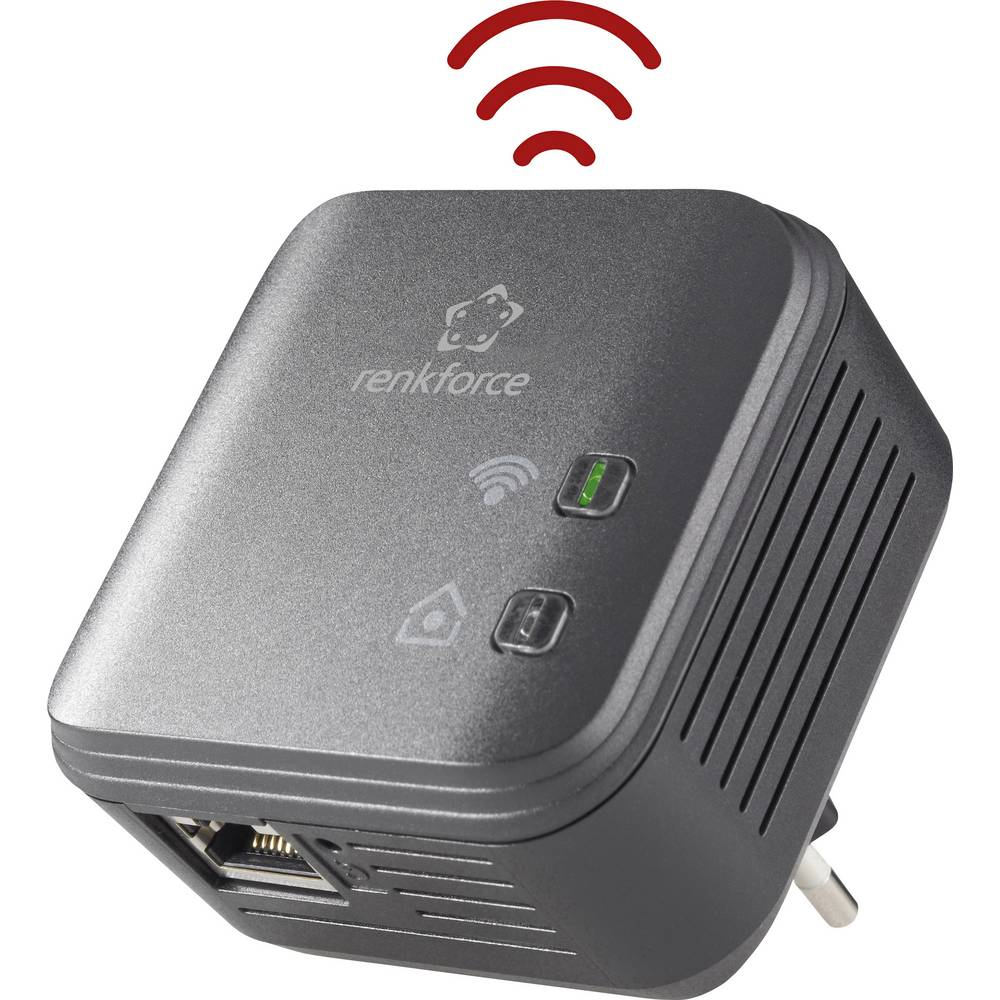 Powerline WLAN jednostruki adapter 500 MBit/s Renkforce PL500D WiFi