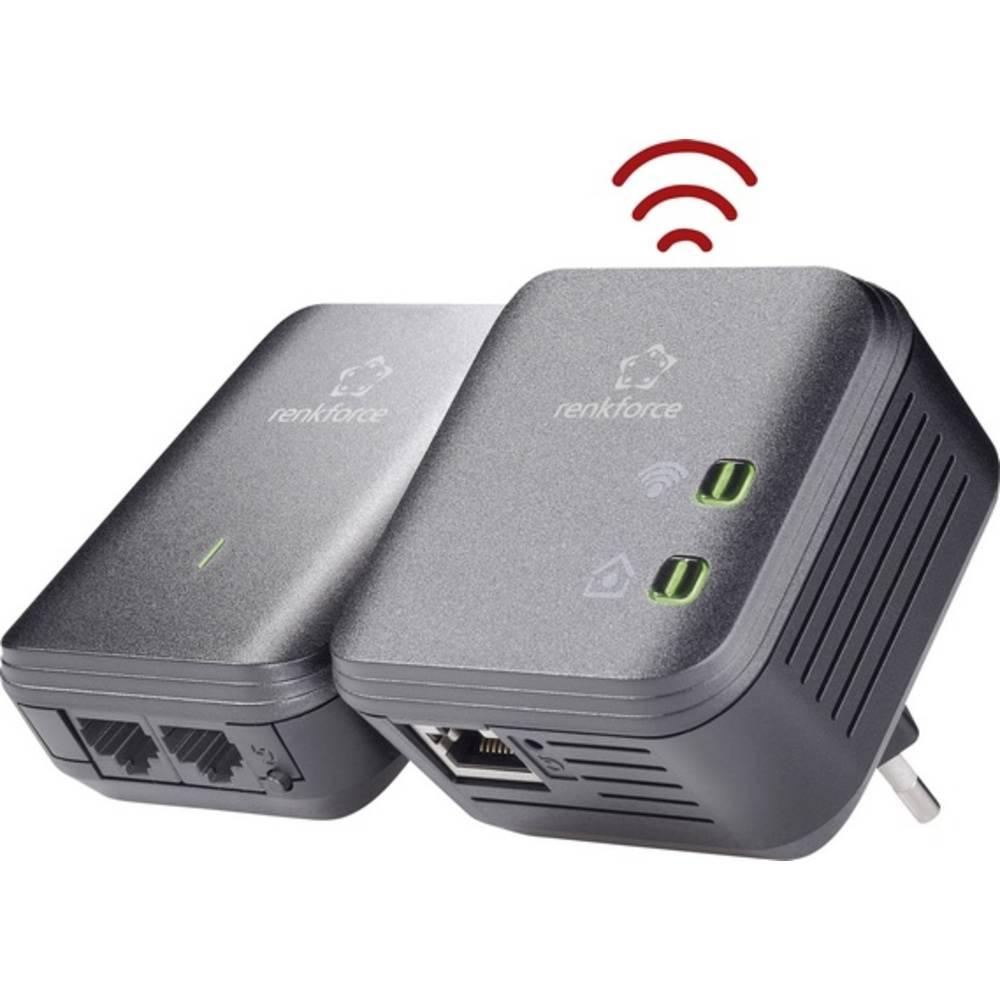 Brezžični začetni komplet 500 MBit/s Renkforce PL500D WiFi Powerline