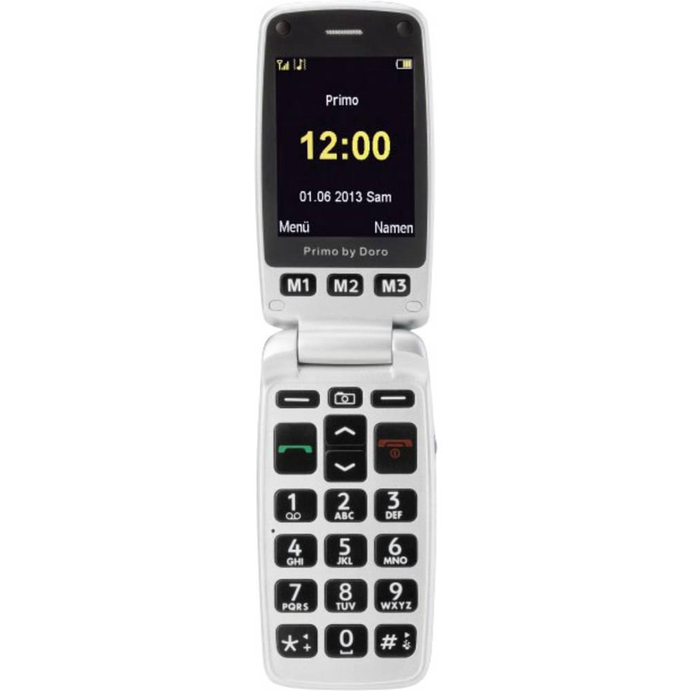 Mobitel s velikim tipkama za starije osobe Primo 413 Doro srebrna