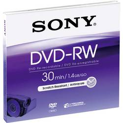 Mini DVD-RW diski 1.46 GB Sony DMW30AJ 5 kosov, Jewelcase, ponovno zapisljivi