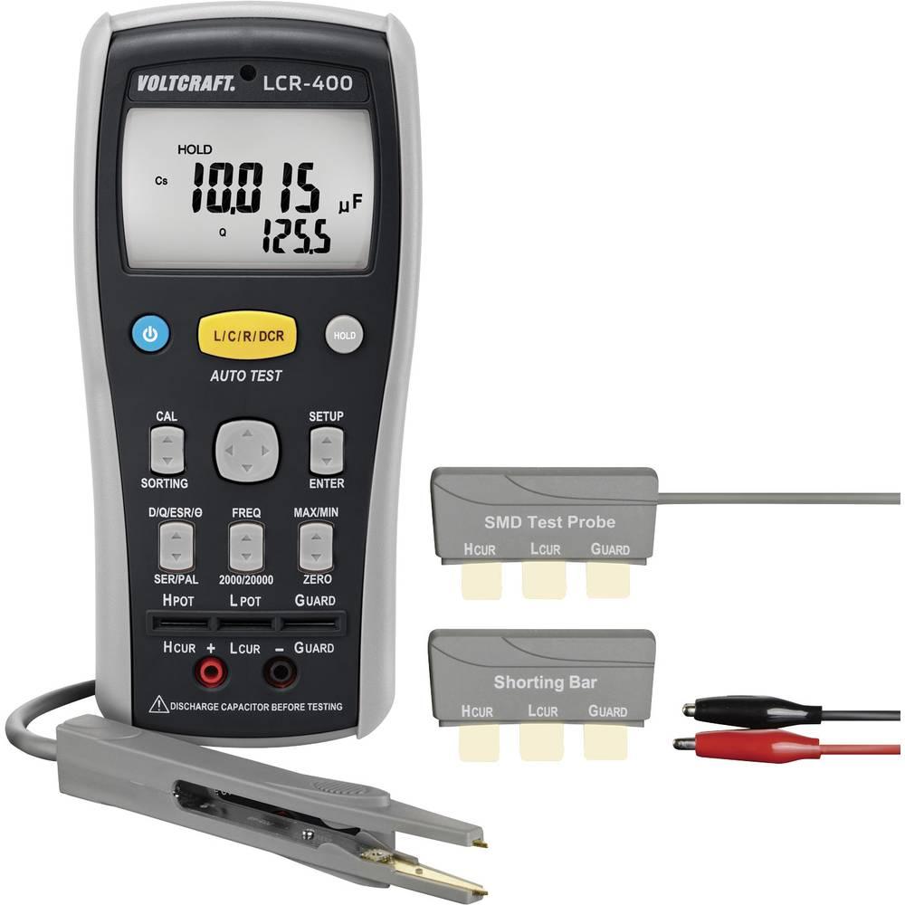 Tester komponent, digitalni VOLTCRAFT LCR-400 kalibracija narejena po: delovnih standardih, CAT I število znakov na zaslonu: 200